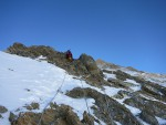Khan Tengri zirve yolunda (~6300m)